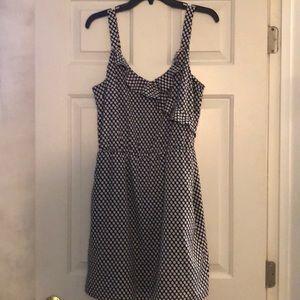 WHBM ruffle polka dot dress EUC